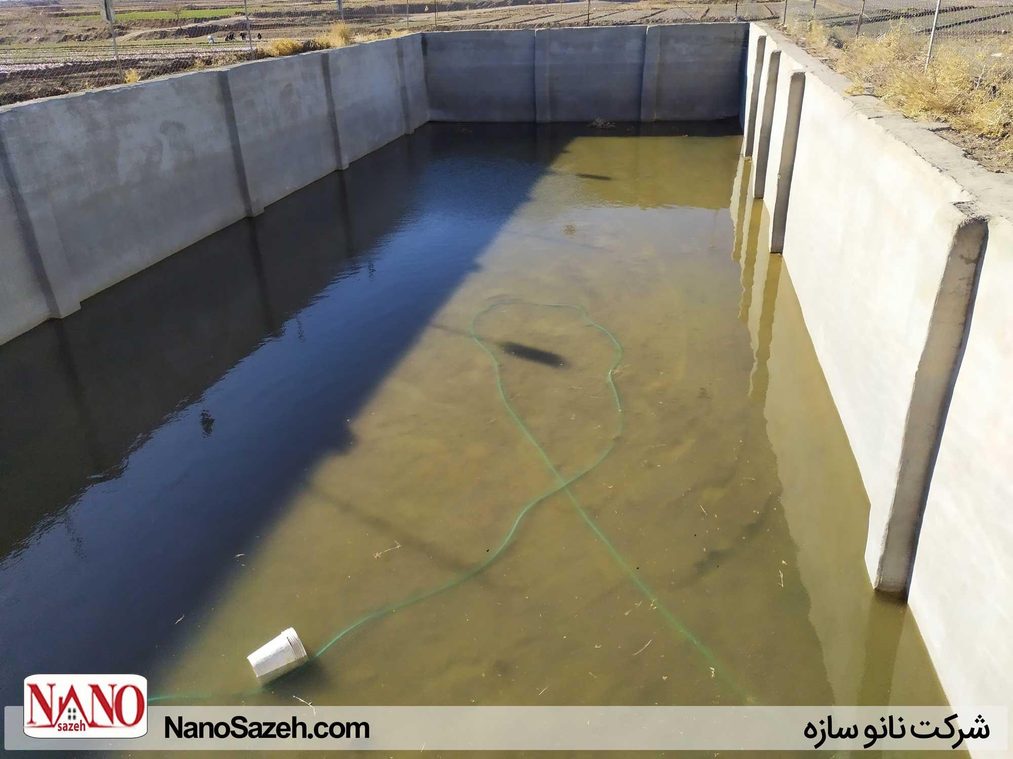 استخر ذخیره آب که بامشکل کاهش آب و جلبک زیاد مواجه بود